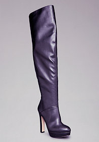 bebe Amira Stretch Leather Boots
