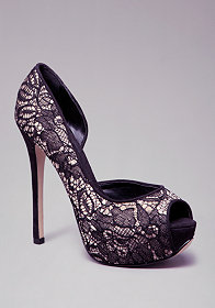 Trinity Lace Pumps at bebe