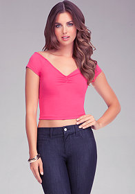 bebe Sweetheart Crop Top