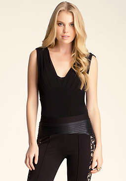 bebe Pleated Bust Bodysuit