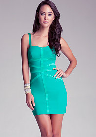 bebe Cross Strap Bodycon Dress