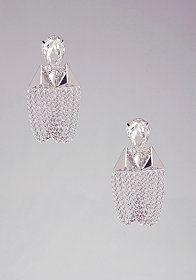 bebe Stone & Pyramid Drop Earrings
