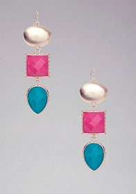 bebe Multi Faceted Stone Earring