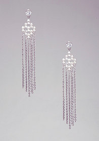 bebe Art Deco Fringe Duster Earrings