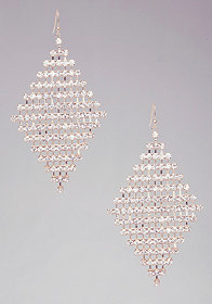 bebe Diamond Shape Crystal Earrings