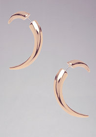 bebe Horn Tunnel Earrings