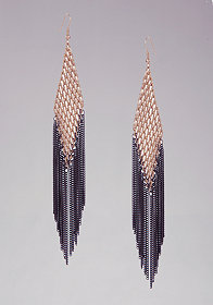 bebe Mesh & Fringe Earrings