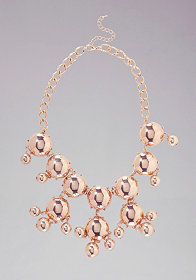 bebe Multi Dome Statement Necklace