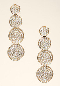 Stone Disc Earrings at bebe