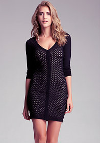 bebe Zigzag Bodycon Dress