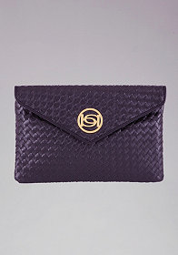 Signature Woven Clutch at bebe