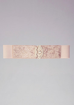 Snake Turnlock Stretch Belt at bebe