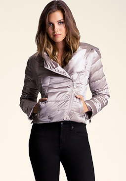 bebe Packable Hooded Down Jacket
