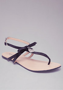 Heart Charm Flat Sandals at bebe