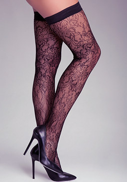 bebe Lace Thigh High Tights