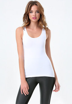 Low Ribbed Tank at bebe
