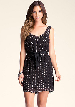 bebe Embellished Tunic Dress