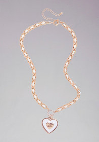Logo Heart Chain Necklace at bebe