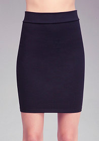 bebe Solid Knit Pencil Skirt