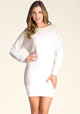 bebe Dolman Metallic Ombre Dress