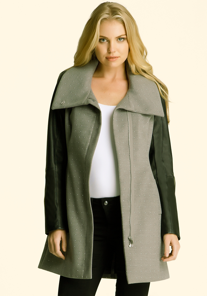 Molly Studded Wool Coat