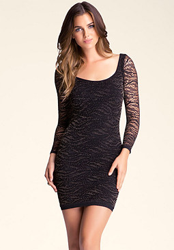 bebe Paige Open Stitch Dress