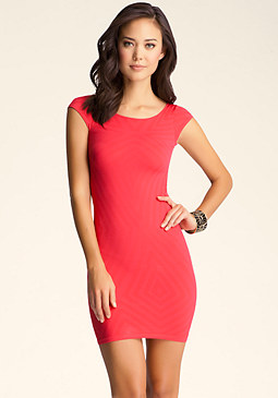 bebe Scarlet Jacquard Dress