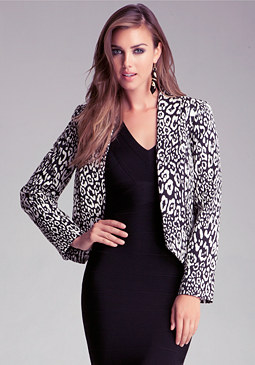 bebe High Low Shawl Collar Jacket