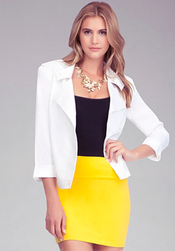 3/4 Sleeve Moto Jacket at bebe