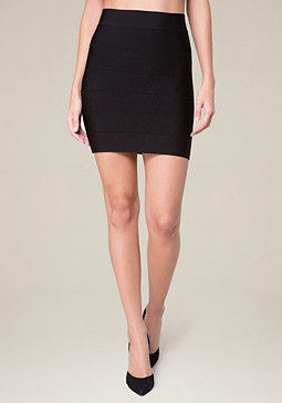 bebe Solid Bandage Skirt