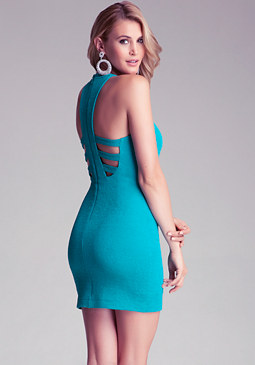 bebe Ottoman Racerback Dress