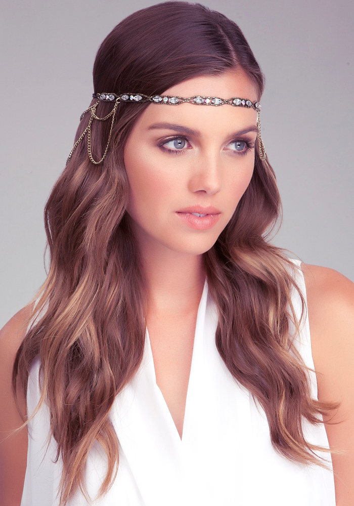 Drape Chain Beaded Headpiece