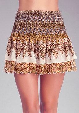 Paisley Layered Skirt at bebe