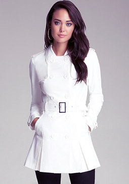 Fit & Flare Trench Coat at bebe