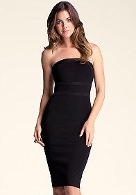 bebe Contrast Waist Midi Dress