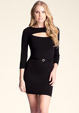 bebe Cutout Belted Midi�Dress