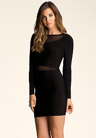 bebe Sheer Inset Dress