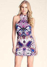 bebe Racerback Mockneck Dress