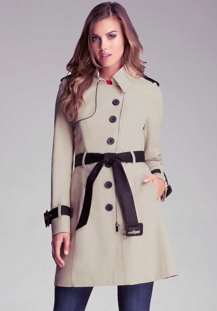 Zip Front Contrast Trench