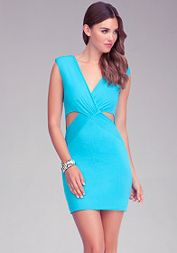 bebe Reversible Cutout Dress