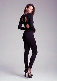 bebe Cloverleaf Cutout Jumpsuit