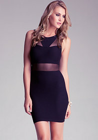 Kim Inset Bodycon Dress at bebe