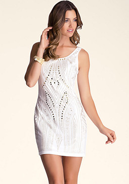 bebe Heavy Embellished Dress