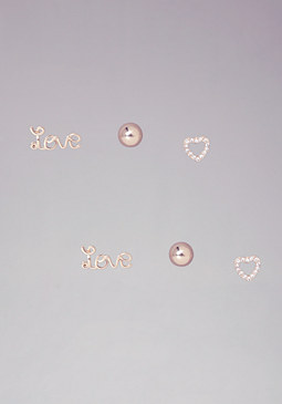 bebe Love Trio Earring Set