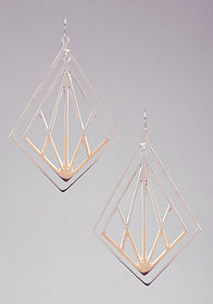 bebe Two Tone Lasercut Earrings