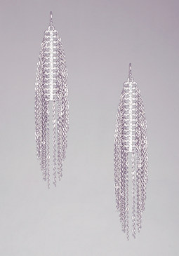 bebe Crystal & Fringe Earrings