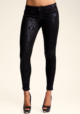 Liquid Argyle Skinny at bebe
