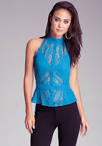 Sleeveless Lace Blouse at bebe