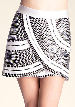 Embellished Miniskirt at bebe