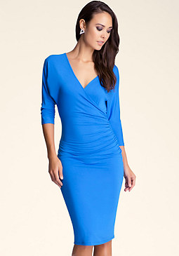 bebe Reversible Dolman Midi Dress